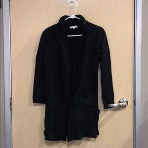 Madewell Wool Black Sweater Coat